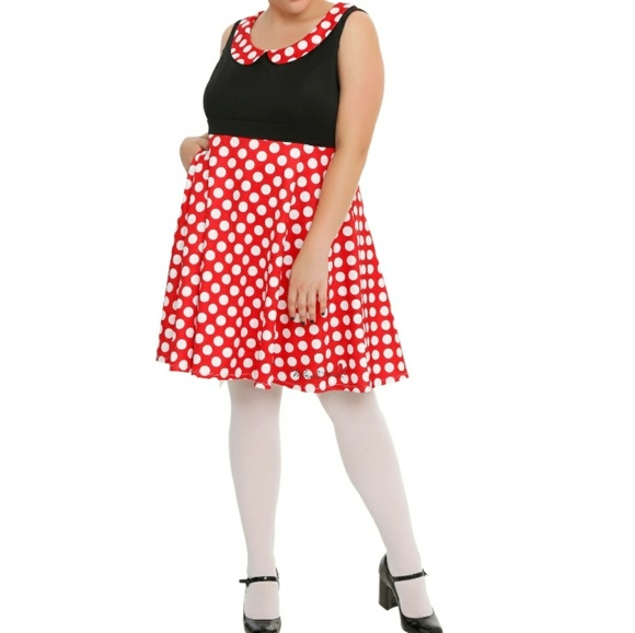 Hot Topic Dresses | Disney Minnie Mouse Plus Size Pinup Dress | Poshmark